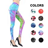 High Waisted Leggings Women - Ultra Soft Stretchy Workout Pants – One/Plus Size (Summer Peacock, Plus Size (12-24))