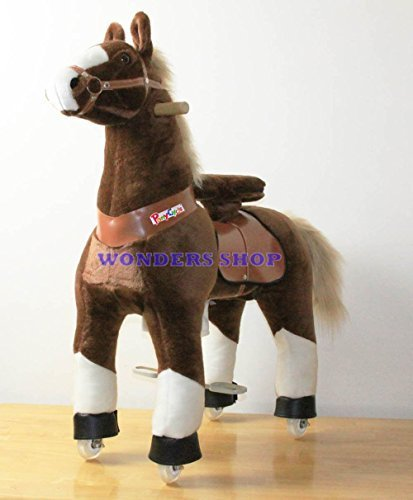 Ponycycle Pony Cycle Ride On Horse size MEDIUM BROWN