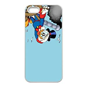 iPhone 5 5s Cell Phone Case White Disney DuckTales Character Scrooge McDuck 007 KYS1114871KSL
