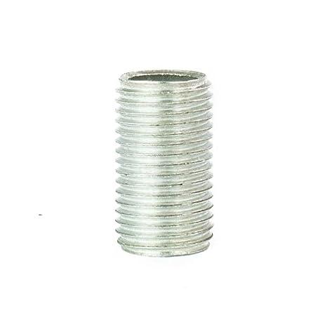 Sicherungsscheibe 10 St/ück inkl Gewinderohr M10x1 Gewinder/öhrchen f/ür Lampe Sechskantmutter u verzinkt L/änge 13mm