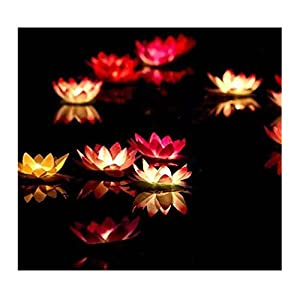 Lilith li Festive Party Solo Pond Water Blew Lamp Wishing Lamp Lotus Flower Lotus Lamp Pray for blessings 20PCS 1
