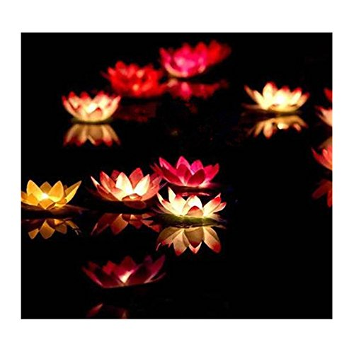 Lilith li Festive Party Solo Pond Water Blew Lamp Wishing Lamp Lotus Flower Lotus Lamp Pray for blessings 20PCS (AH-1) (Artificial Swimming Pool For Sale)