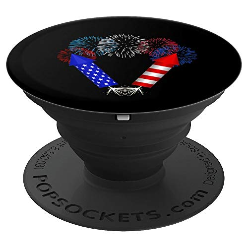 Fourth Of July Fireworks Bottle Rockets PopSockets Grip and Stand for Phones and Tablets