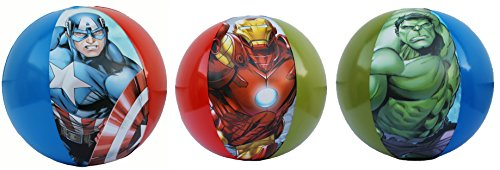 [New Marvel Heros & DC Comics Avengers Inflatables 3 Pieces Beach Balls Size 20 inches] (Marvel Super Villains Costumes)