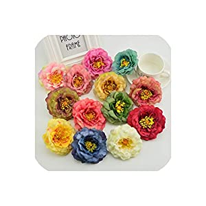 April With You Silk Peony European Style Quality for Garden Home Wedding Party car Decora Bride Bouquet DIY Stamens Artificial Flowers 61