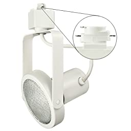 Nora Track Light NTH-107W - White - PAR30 Gimbal Ring - Compatible with Halo Track - 120 Volt
