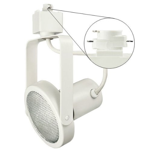 Nora Track Light NTH-107W - White - PAR30 Gimbal Ring - Compatible with Halo Track - 120 Volt (Ring Gimbal Par30)