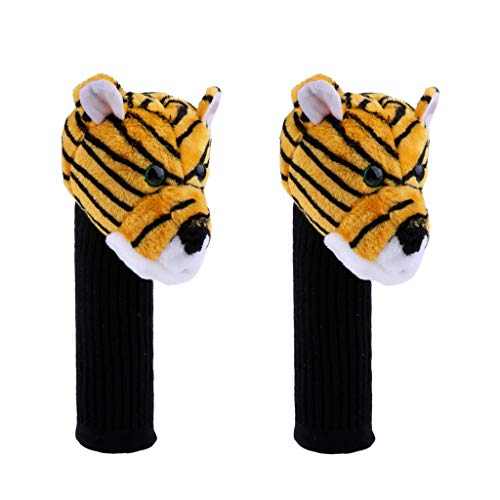 (kesoto 2pcs Golf Club Headcover Protector for 460 Cc/No.1 Wood Driver Tiger Head Great Gift Novelty Design)