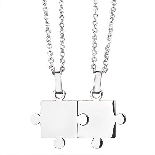 ouples Titanium Puzzle Pendant Love Necklace Pendant (Titanium Puzzle)