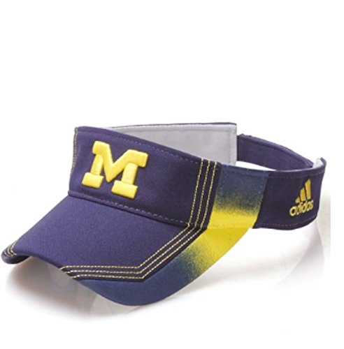 brand new 5cfa8 5f561 Adidas NCAA Michigan Wolverines Performance Visor, Multi Team Colors