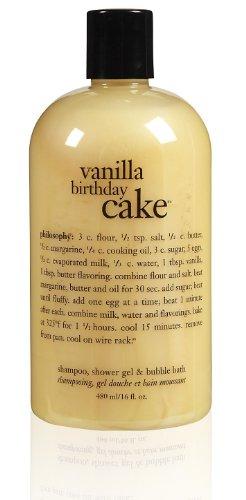 Philosophy Vanilla Birthday Cake Shampoo/Shower Gel/Bubble Bath, 16