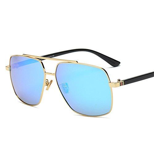UV soleil polarisées soleil Lunettes Lunettes qbling Frame Blue Vintage Ice soleil hommes tendance de Lunettes Hommes de Gold technolog pour 2018 lunettes Nouveaux de UwZqwS
