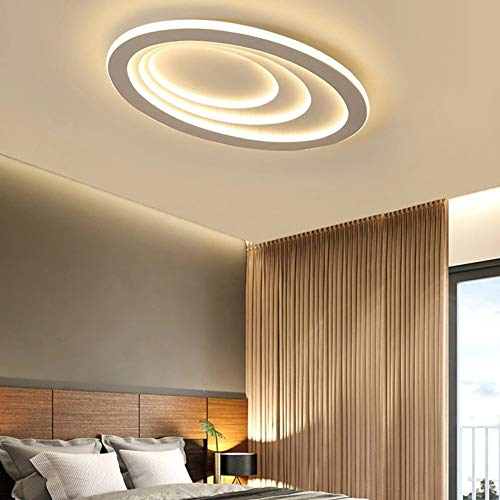 YAYONG Ceiling Lamp Simple Modern Round Bedroom Lamp LED Atmospheric Living Room Lamp Romantic Creative Indoor Lighting Ellipse,75506cm