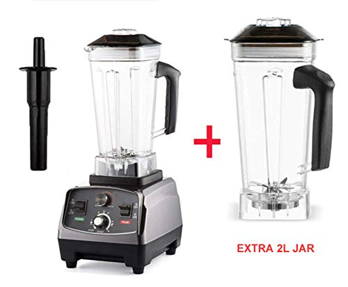 Heavy Duty Professional Smart Blender Mixer Juicer Fruit Food Processor Ice Smoothies Crusher,With Extra Jar,UK Plug