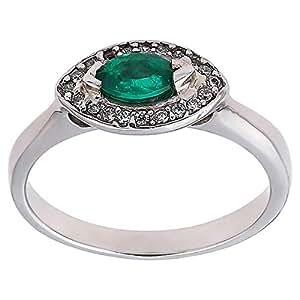 EW Jewellery House Women's White Gold Anniversary Ring - Adjustable, 4.27 g