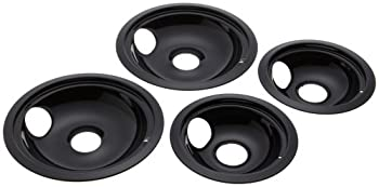 Stanco 4 Pack Gehotpoint Electric Range Porcelain Black Reflector Bowls With Locking Notch 2