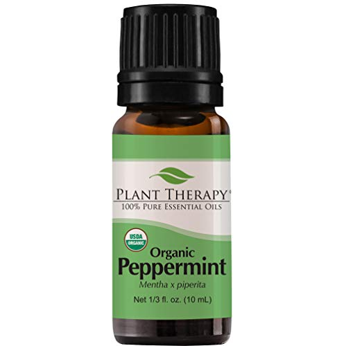 Plant Therapy Peppermint Organic Essential Oil | 100% Pure, USDA Certified Organic, Undiluted, Therapeutic Grade | 10 Milliliter (1/3 Ounce)
