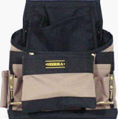 CLC Custom Leathercraft 1620 Poly Nail and Tool Bag, 11 Pockets