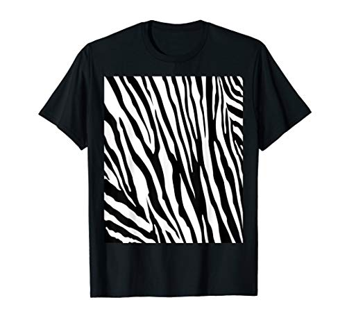 Zebra Double Sided Print Halloween Costume Shirt -