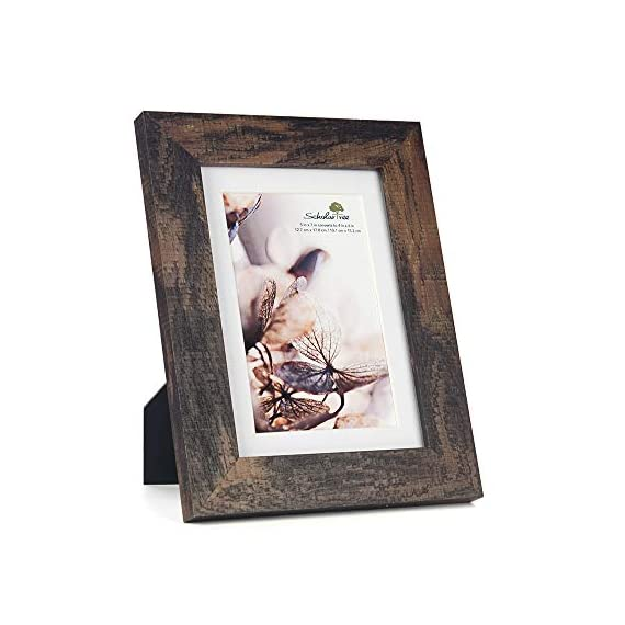 Scholartree Wooden Brown 5x7 Picture Frame 3 Set in 1 Pack or 5x7 Frame or 11x14 Photo Frame - ELEGANT DESIGN: 5x7 Picture Frame made to display 5x7 inches pictures without Mat or 4x6 inches photos with Mat. The picture frame is designed with hooks and brackets that can be displayed on the table and wall. HIGHEST QUALITY: 5x7 frames are made of MDF(a kind of hard wood) and real inorganic glass. It make the frame strong and the real glass has high transparency. The frame includes built-in metal tabs for easy access to display your photos, cards and memories. ATTRACTIVE LOOK: White coloured mat keeps photos and artwork looking great for years. Turn your portraits, artful prints and everyday shots into a spectacular display. The actual mat opening is designed to hold a 4x6 inch photo in place. We recommend taping the photo to the back of the mat. - picture-frames, bedroom-decor, bedroom - 41G0BT86MFL. SS570  -