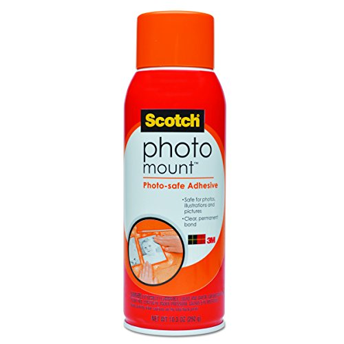 (Scotch(R) Photo Mount (TM) Photo-safe Spray Adhesive, 6094, 10.3 oz )