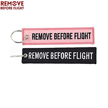 Amazon.com: Key Rings 2PCS Remove Before Flight Key Chain ...