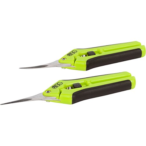 Active Gear Guy Microtip Gardening Trim Scissors Hydroponic, Garden Bonsai Use. One Curved Blade One Straight Blade. Great Tools Precision Pruning Trimming by Active Gear Guy (Image #1)