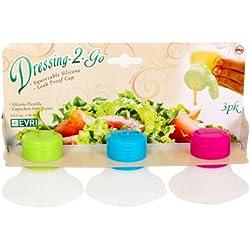 Evriholder Salad Dressing Bottle 2 oz. , Various Colors , 3-Pack
