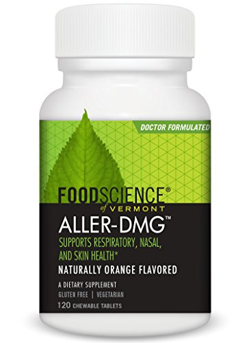 FoodScience of Vermont Aller-DMG, Dietary Supplement to Relieve Skin Irritation, Respiratory and Nasal Discomfort, 120 Chewable Tablets