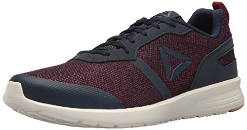 Reebok Men's Foster Flyer Sneaker, Coll. Navy/Urban Maroon/Ash Grey/chalk/Field Tan, 9 M US