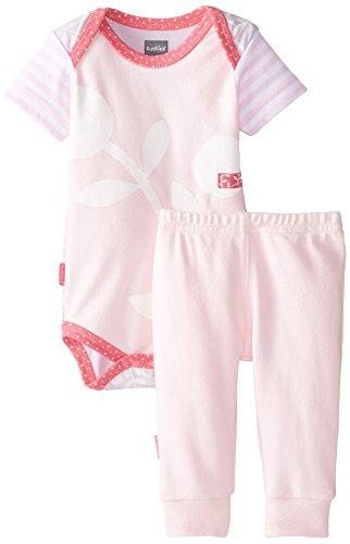Kushies Baby Girls' Newborn Short Sleeve Bodysuit and Pant S