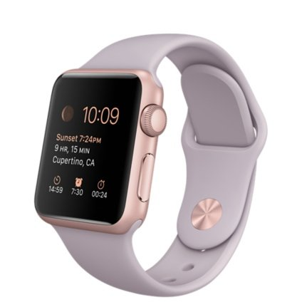 Apple Watch 38mm Aluminum Case Sport with Lavender Band, Rose Gold Body (Certified Refurbished)