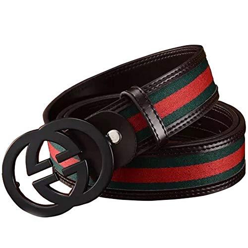 [해외]Man`s Fashion Leather Alloy Buckle Belt / Man`s Fashion Leather Alloy Buckle Belt (110CM)