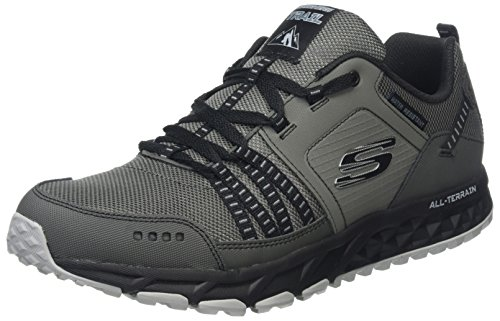Escape black Sneaker Uomo Plan Grigio Skechers charcoal a6F7qww