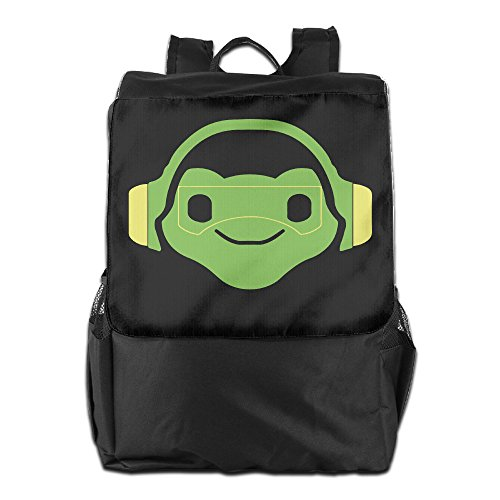 Price comparison product image Amurder Outdoor Lucio Overwatch Video Game Travel Backpack Shoulder Rucksack Bag Unisex Black