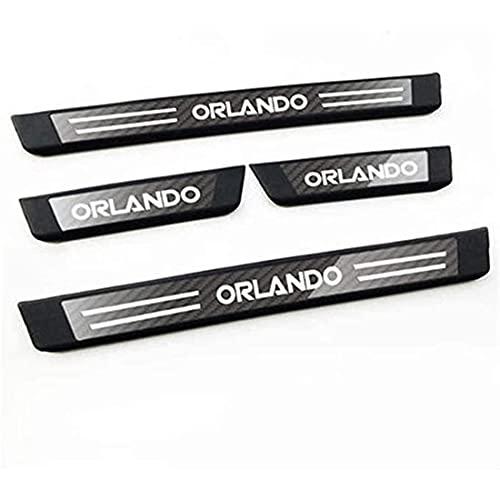 4Pcs Auto Roestvrij Staal Instaplijsten Kick Platen, voor Chevrolet Orlando Protector Plaat Pedaal Buitenste Platen…