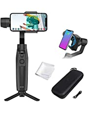 MOZA Mini MI 3-Axis Smartphone Gimbal Stabilizer with Wireless Charging & Inception Mode 360° Hard-Shell Shock-Resistant Case (Max Payload: 300g/0.66lbs)