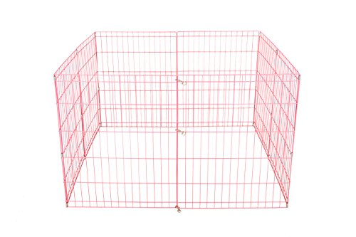 24 inch Tall Dog Playpen Crate Fence Pet Kennel Play Pen Exercise Cage -8 Panel
