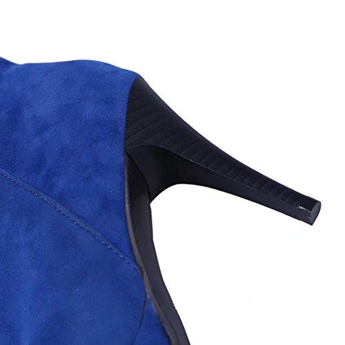 AIYOUMEI Women's Classic Boot Blue SWu8SoDT