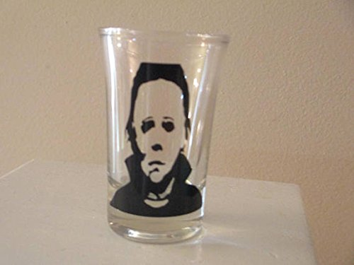 4 Slasher Shot Glasses Michael Myers Freddy Jason Leatherface Horror Halloween Merch Massacre Bar Dr - http://coolthings.us