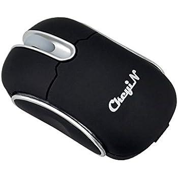Ckeyin Wireless Bluetooth Mini DPI Smart Optical Mouse Size (81mm(L)x50mm(W)x31mm(H))-Black