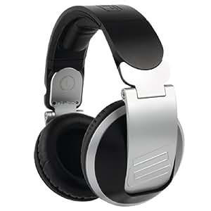 "Reloop RHP-20 auricular - Auriculares (Circumaural, Diadema, 3 - 30000 Hz, Alámbrico, 3.5 mm (1/8"") + 6.35 mm (1/4""), 3 m) Negro, Plata"