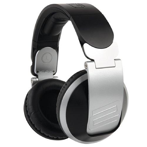 Reloop RHP-20 auricular – Auriculares (Circumaural, Diadema, 3-30000 Hz, Alámbrico, 3.5 mm (1/8″) + 6.35 mm (1/4″), 3 m) Negro, Plata