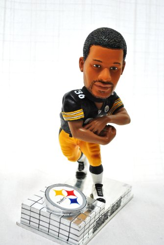 Pittsburgh Steelers Official NFL #36 Jerome Bettis rare platinum base action Bobble Head by forever