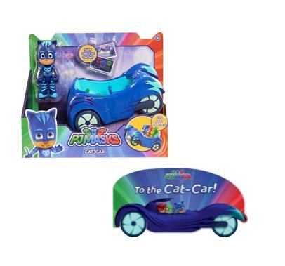 Pj Masks Catboy And Cat Car With To The Cat Car  Book Bundle