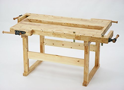 W186 木工作業台 木工用作業台 木製作業台 工作作業台 木製工作作業台 作業台 木製 バイス 工作用 木工用 デスク 机 B00LAV64S0