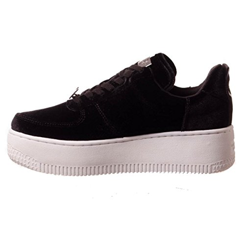 Black a Sole Windsor Alto White Sneaker Smith Velvet Collo Racerr Donna 77IPZx8