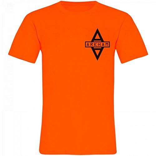 Arkham Asylum Inmate Costume (Arkham Asylum Prisoner Costume: Unisex Neon Crew Neck T-Shirt)
