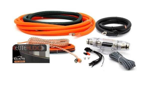 Elite Audio EA-KIT0 0 AWG Gauge Amplifier//Amp Installation Install Wiring Kit