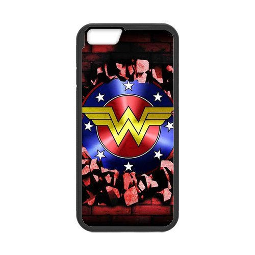 Fayruz- Personalized Protective Hard Textured Rubber Coated Cell Phone Case Cover Compatible with iPhone 6 & iPhone 6S - Wonder Woman F-i5G1179